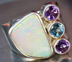 38.50 CTS SOLID OPAL/GEMSTONE RING SIZE 8  [SOJ681]