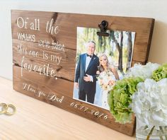 New wedding item from our shop! The perfect gift for your escort at you're wedding this Summer! Of all the walks we've taken, this one is my favorite. The Wedding Date, Wedding In The Woods, Wedding Bride, Summer Wedding, Our Wedding, Dream Wedding, Wedding Ideas, Wedding Rustic, Wedding Picture Frames
