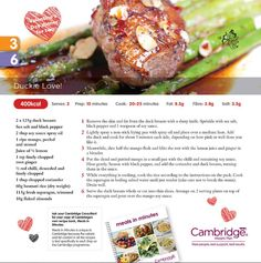 A delicious Valentine's dinner (Steps 3 & 6)