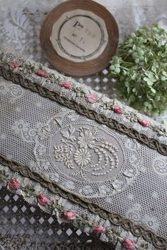 lace and silk trim...lovely box