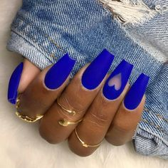 Blue coffin nails with negative space