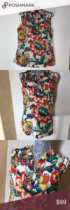 Tory Burch Floral Top! Sz 8 Tory Burch Floral Top! Sz 8 Tory Burch Tops Blouses