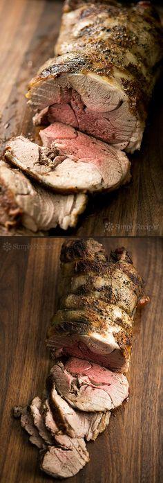 Roast Leg of Lamb ~ Classic roast leg of lamb recipe.  Leg of lamb marinated in a citrus rosemary marinade, then oven seared and slow roasted. ~ SimplyRecipes.com