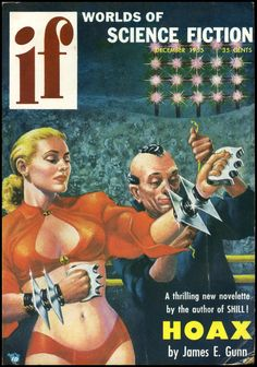 IF, Dec. 1955, cover by Kelly Freas