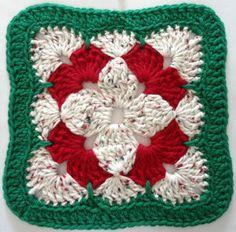 #279 Christmas  Flower Crochet Dishcloth – Maggie Weldon Maggies Crochet