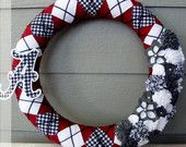 Camo Wreath - Hunting Wreath, Ready To Ship, 14 inches. $45.00, via Etsy.
