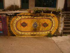 Carpet design street art, Montenegro
