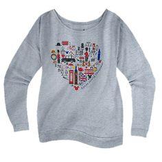Your WDW Store - Disney ADULT Shirt - EPCOT United Kingdom Long Sleeve Tee $50