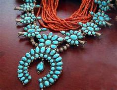 Beautiful squash blossom necklace