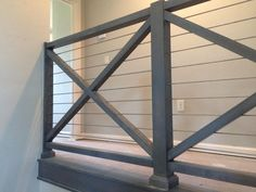 New Farmhouse Stairs Railing Entryway Ideas Porch Step Railing, Loft Railing, Metal Stair Railing, Porch Steps, Staircase Railings, Railing Design, Staircase Design, Stairways, Banisters