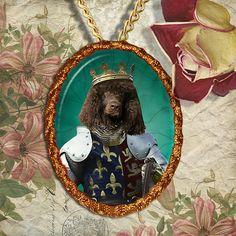Irish Water Spaniel Jewelry Pendant or Brooch by NobilityDogs, $34.90