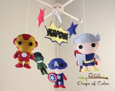 Baby Mobile  Baby Crib Mobile  Super Hero by dropsofcolorshop, $95.00