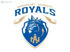 Visual identity developed by Slavo Kiss for the KIPP DC Northeast Academy athletic department. Initials Logo, Monogram Logo, Typography Logo, Logo Branding, Royal Logo, Eagle Mascot, Gear Logo, Soccer Logo, Eagle Art