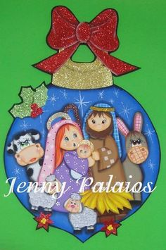 mary gutierrez's media content and analytics Christmas Nativity, Christmas Wood, Christmas Balls, Christmas Crafts, Christmas Decorations, Christmas Drawing, Christmas Paintings, Natal Diy, Christmas Activities