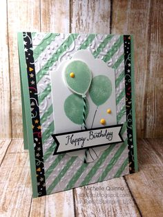 Shell Stamps: WWYS 55 Balloon Celebration challenge - made wth Stampin' Up! Balloon Clebration and Its My Party dsp. Please see blog for product info. http://shellsq.blogspot.com/2016/03/wwys-55-balloon-celebration-challenge.html