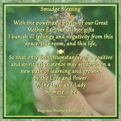 Smudge Blessing