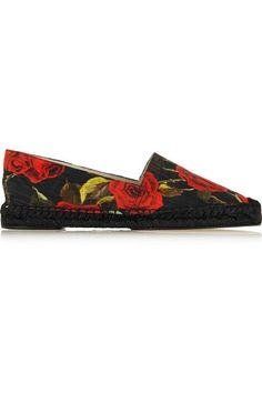 15 Perfect Pairs Of Espadrilles You'll Live In This Summer #refinery29  http://www.refinery29.com/summer-espadrilles#slide-10  Slip-OnsEverything's coming up rose (-printed espadrilles).