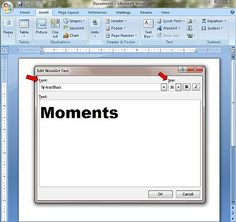 Use MS Word to Make Block Lettering for Scrapbooks