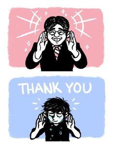 "Artists Across the Web Pay Tribute to Satoru Iwata; here: ""Thank You"" by dantekurosaki"