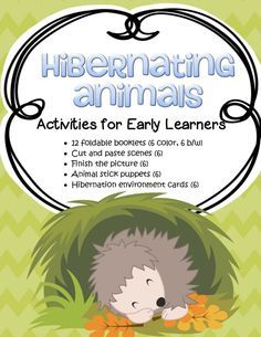 Hibernation Theme Activities for Preschool PreK and Kindergarten