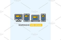 Responsive Web Design Concept. Graphics Modern Responsive Web Design Concept. Vector illustration. EPS and high resolution JPG in ZIP. by Stacy