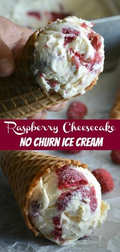 With a simple no churn recipe, you can have ice cream on hand in a a flash. ThisNo Churn Raspberry Cheesecake Ice Cream is everything you want in a delicious dessert- a rich sweetened creamy base, liberally swirled with a fresh homemade raspberry syrup swirl. #raspberry #cheesecake #nochurn #icecream #recipe