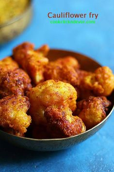 street style crispy cauliflower fry recipe without added colors- Indian cauliflower fry or gobi fry recipe Gobi Recipes, Indian Food Recipes, Real Food Recipes, Cooking Recipes, Indian Foods, Cooking Stuff, Snacks Recipes, Oven Recipes, Indian Dishes