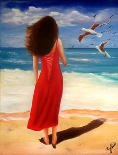 Wind Blown Beach Painting by Joni McPherson - Wind Blown Beach Fine Art Prints and Posters for Sale