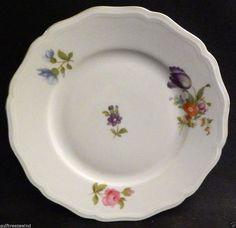 Johann Haviland Bavaria E 74/5 Bread Plate, Chippendale Floral Gold Trim #3 #JohannHaviland