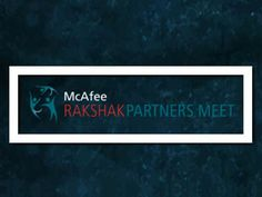 McAfee Rakshak Partners Meet Logo Design