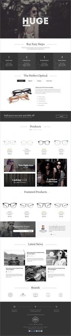 Buy Smart Eye Glasses - Responsive Magento Theme by TemplateMela on ThemeForest. Compatibility Magento Smart Eye Glasses Magento Responsive Theme is specially designed for sunglass, eyeglas. Web Design Projects, Design Web, Cover Design, Web Design Inspiration, Design Ideas, Website Layout, Interactive Design, Search Engine Optimization, Shopping Apps