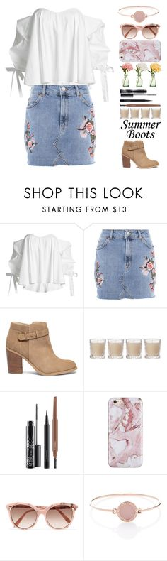 """""""Maggie"""" by brie-the-pixie ❤ liked on Polyvore featuring Caroline Constas, Topshop, Sole Society, Shabby Chic, MAC Cosmetics, Peony, Victoria Beckham, Michael Kors, polyvorecontest and summerbooties"""