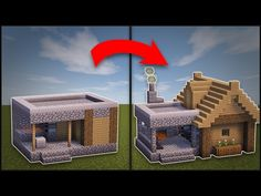 Minecraft: How To Remodel A Village Small House - YouTube