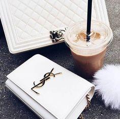 fashion, YSL, and coffee image