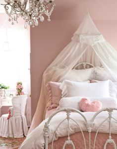#Kids Room ~ Princess Like Room For Girl With Brushed Nickel Chandeliers Also Neutral Pink Walls And Floral Rugs Decoration Ideas Amazing Girls Room Design Ideas. Girls Room Design. Girls Room Paint Ideas. Decorating Girls Room.