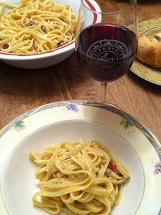 Tagliatelle with Proscuitto and Orange paired with Ponte Winery Beverino