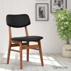 Shape an evergreen interior décor with the Lander Replica Ari Dining Chair, PVC, Black (Set of from Resort Living. Next Dining Chairs, Bar Stool Chairs, Fabric Dining Chairs, Dining Chair Set, Bar Stools, Family Room, Interior Decorating, Wood, Furniture