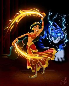 Disney Princess Avatar: Fire Bender Jasmine - disney-princess Photo