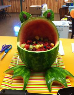 Frog - kids birthday party or baby shower idea - something a bit healthy.