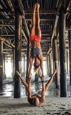 These acro-yoga poses are totally jaw-dropping.