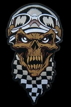 Its here at last Checkered Demon S... and in available here http://apatchestore.com/products/checkered-demon-skull-rider-cafe-racer-big-xl-embroidered-back-patch-9-9?utm_campaign=social_autopilot&utm_source=pin&utm_medium=pin @ apatchestore.com