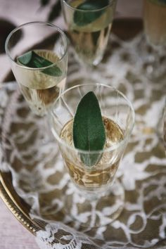 Sage Champagne: Nice, simple twist on the classic for New Year's Eve