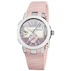 Ulysse Nardin Women's 243103/397 Executive Dual Time Pink Mother of Pearl Diamond Dial Watch: $8,479.92 http://www.amazon.com/gp/product/B006IY8KNG?ie=UTF8=1789=B006IY8KNG=xm2=luclan-20