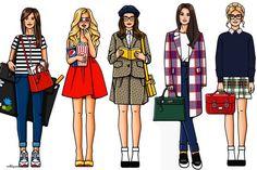 Os desenhos de moda de Girls In Bloom | Just Lia