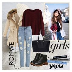 """Sweater Romwe"" by aida-1999 ❤ liked on Polyvore featuring Accessorize, women's clothing, women, female, woman, misses and juniors"