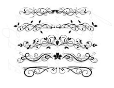 Scalabe Vector Graphics Divider Flourish Swirls and by TuiTrading