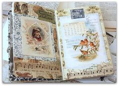 Beautiful Glue Book Pages..  I so want to do this someday