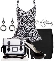 """""""Black and White II"""" by mhuffman1282 on Polyvore"""