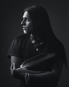 Stand Tall Littlebear Sanchez, a striking Apache from Texas by Dave Brosha