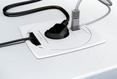 Our solution for electrification and cable guide lighter and more discreet for floor, ceiling or desk.